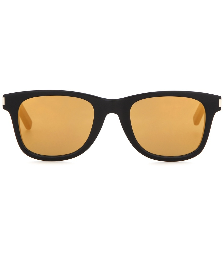 Sl 51 Surf Mirrored Sunglasses - secondary colour: bright orange; predominant colour: black; style: d frame; size: standard; material: plastic/rubber; pattern: plain; occasions: holiday; finish: plain; season: s/s 2016; wardrobe: basic