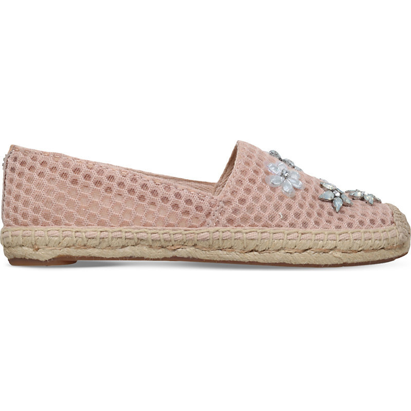 Brillare Embellished Espadrilles, Women's, Eur 38.5 / 5.5 Uk Women, Light Salmon - predominant colour: blush; occasions: casual; material: fabric; heel height: flat; embellishment: beading; toe: round toe; finish: plain; pattern: plain; style: espadrilles; season: s/s 2016; wardrobe: highlight