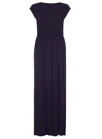 Womens **Tall Navy Lace Maxi Dress Navy - sleeve style: capped; pattern: plain; style: maxi dress; length: ankle length; predominant colour: navy; occasions: evening, holiday; fit: body skimming; fibres: viscose/rayon - stretch; neckline: crew; sleeve length: short sleeve; pattern type: fabric; texture group: jersey - stretchy/drapey; embellishment: lace; season: s/s 2016