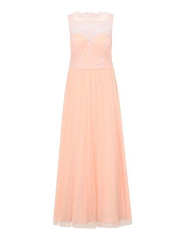 Womens **Chi Chi London Pink Embroidered Maxi Dress Pink - neckline: slash/boat neckline; pattern: plain; sleeve style: sleeveless; style: maxi dress; predominant colour: blush; length: floor length; fit: soft a-line; fibres: polyester/polyamide - 100%; occasions: occasion; sleeve length: sleeveless; texture group: sheer fabrics/chiffon/organza etc.; pattern type: fabric; pattern size: standard; embellishment: embroidered; season: s/s 2016; wardrobe: event