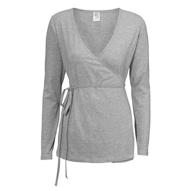 Soft Cotton Jersey Wrapover Cardigan - neckline: low v-neck; pattern: plain; predominant colour: mid grey; occasions: casual, work, creative work; length: standard; style: standard; fibres: cotton - 100%; fit: slim fit; waist detail: belted waist/tie at waist/drawstring; sleeve length: long sleeve; sleeve style: standard; pattern type: fabric; texture group: jersey - stretchy/drapey; season: s/s 2016; wardrobe: highlight