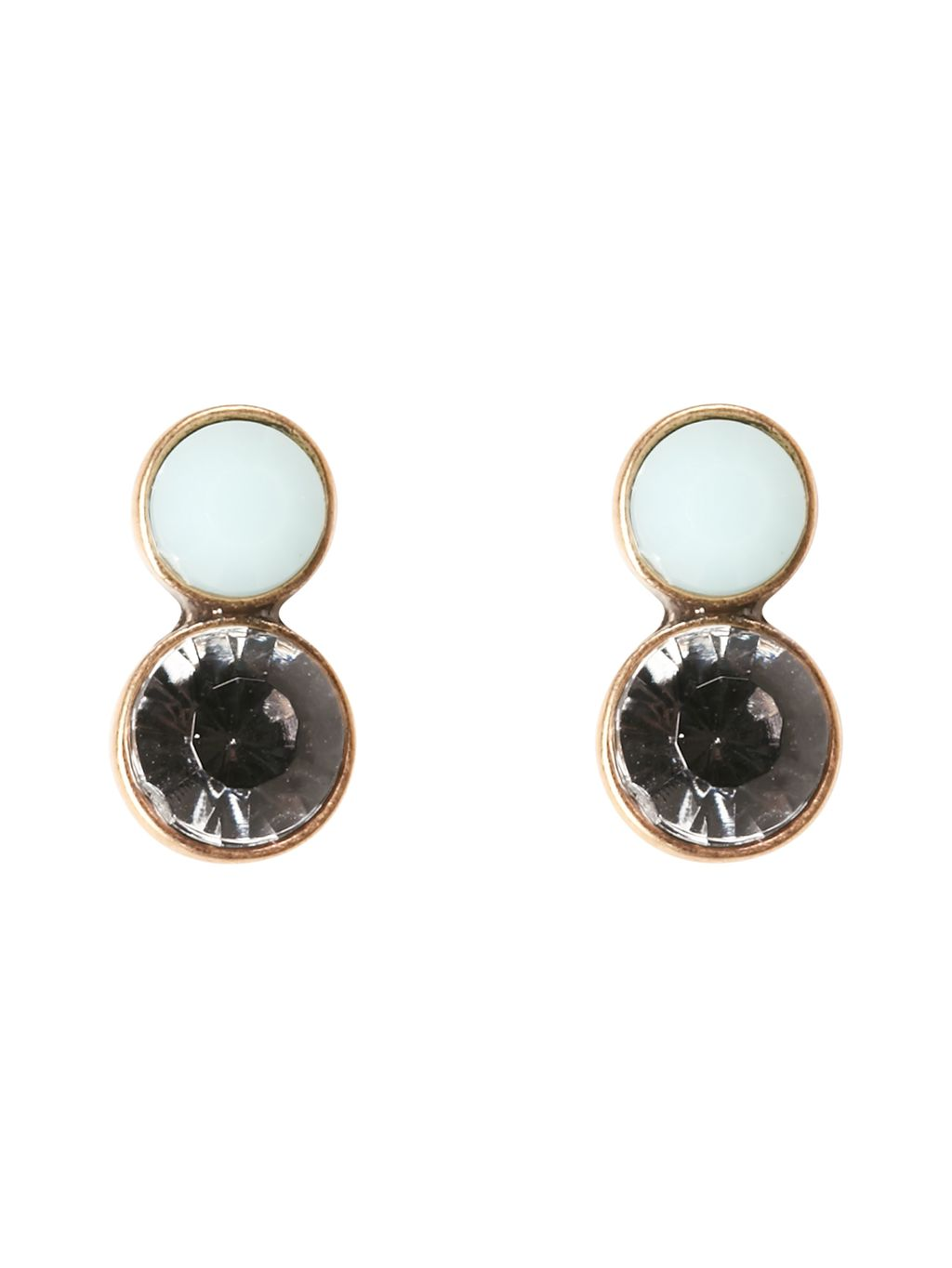 Jewelled Drop Earring, Blue - predominant colour: navy; occasions: evening, occasion; style: drop; length: short; size: standard; material: chain/metal; fastening: pierced; finish: plain; embellishment: jewels/stone; season: s/s 2016; wardrobe: event