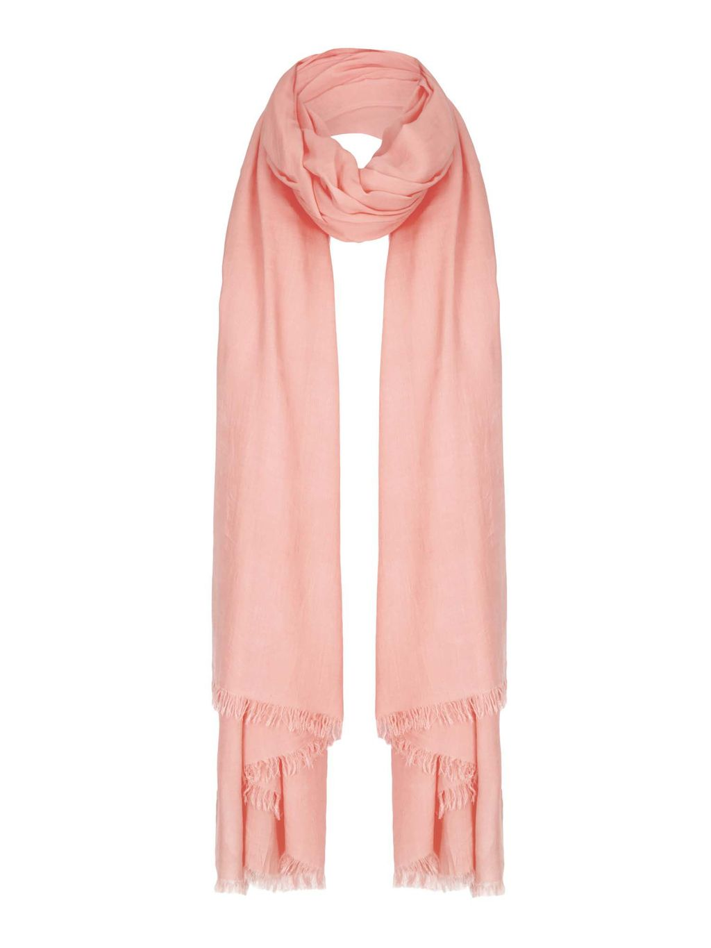 Pastel Scarf, Pink - predominant colour: pink; occasions: casual; type of pattern: standard; style: regular; size: standard; material: fabric; pattern: plain; season: s/s 2016; wardrobe: highlight