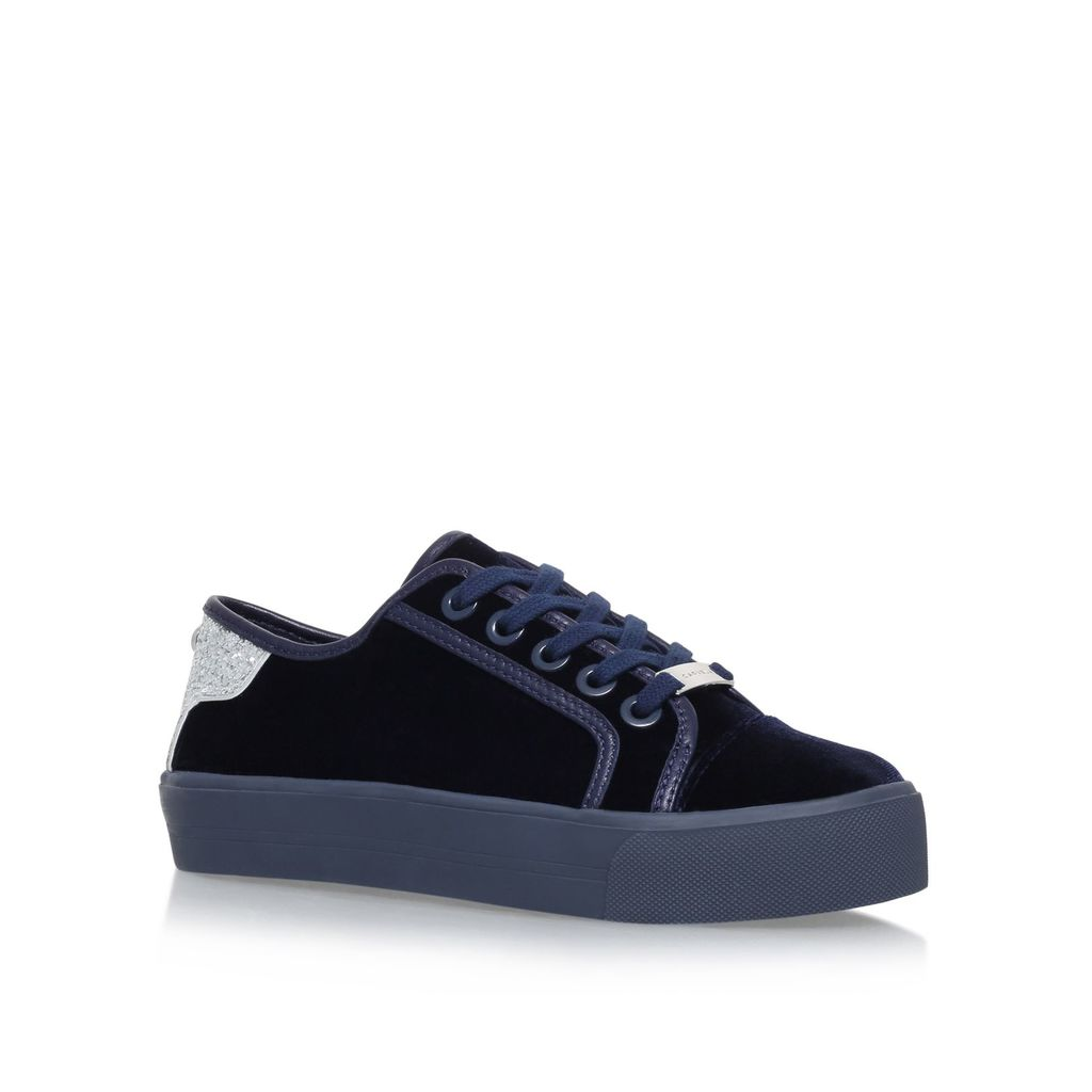 Werein Flat Sandals, Navy - predominant colour: black; occasions: casual, creative work; material: leather; heel height: flat; toe: round toe; style: flatforms; finish: plain; pattern: plain; shoe detail: platform; season: s/s 2016