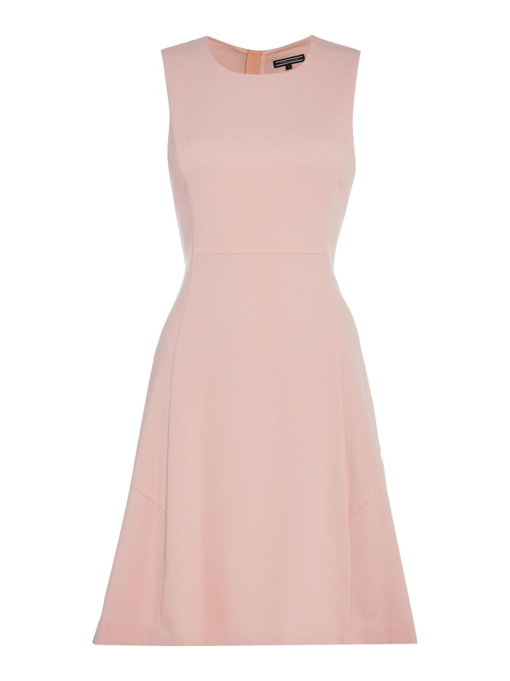 Jemma Dress, Peach - pattern: plain; sleeve style: sleeveless; predominant colour: blush; occasions: evening; length: just above the knee; fit: fitted at waist & bust; style: fit & flare; fibres: polyester/polyamide - stretch; neckline: crew; sleeve length: sleeveless; pattern type: fabric; texture group: jersey - stretchy/drapey; season: s/s 2016