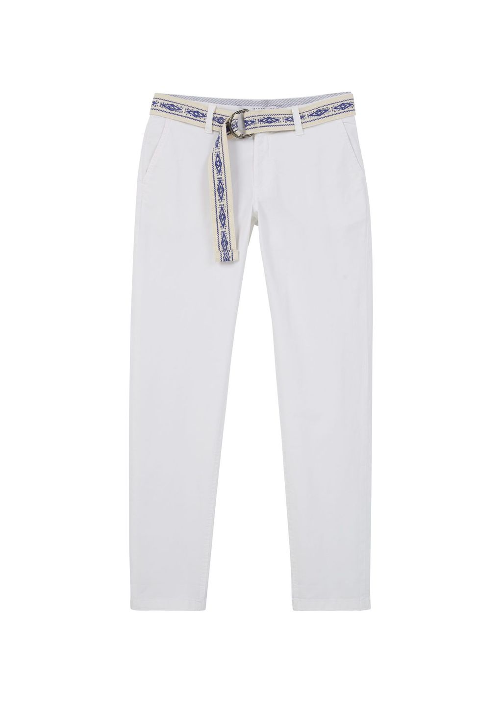Cotton Chinos, White - length: standard; pattern: plain; waist detail: belted waist/tie at waist/drawstring; waist: mid/regular rise; predominant colour: white; occasions: casual, holiday, creative work; style: chino; fibres: cotton - stretch; texture group: cotton feel fabrics; fit: straight leg; pattern type: fabric; season: s/s 2016; wardrobe: basic