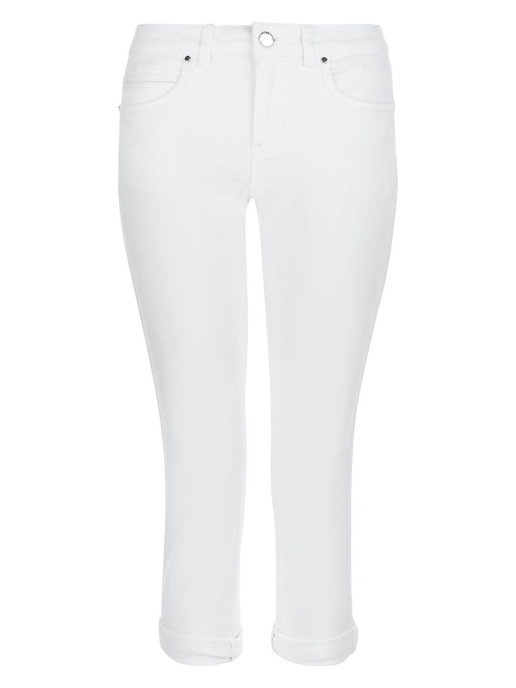 Isadora Capri, White - style: skinny leg; pattern: plain; pocket detail: traditional 5 pocket; waist: mid/regular rise; predominant colour: white; occasions: casual; length: calf length; fibres: cotton - stretch; texture group: denim; pattern type: fabric; season: s/s 2016; wardrobe: highlight
