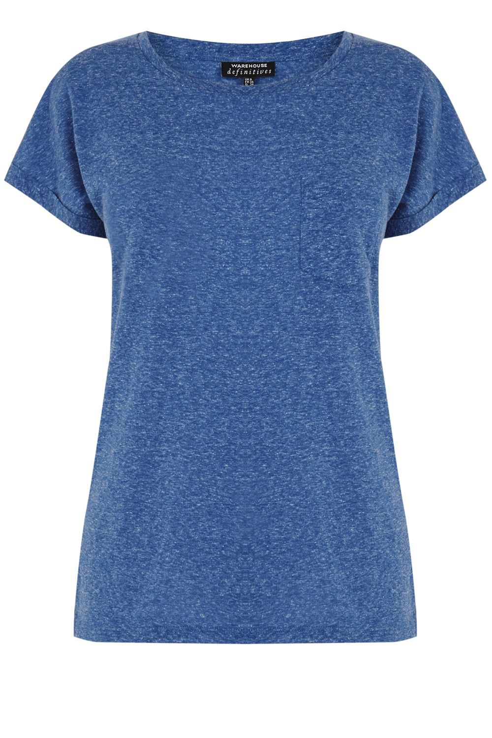 Neppy Pocket T Shirt, Blue - pattern: plain; style: t-shirt; predominant colour: navy; occasions: casual; length: standard; fibres: cotton - mix; fit: body skimming; neckline: crew; sleeve length: short sleeve; sleeve style: standard; pattern type: fabric; texture group: jersey - stretchy/drapey; season: s/s 2016; wardrobe: basic