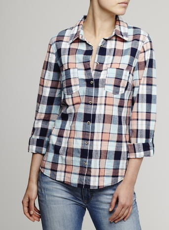 Womens Blue Check Shirt, Blue Multi - neckline: shirt collar/peter pan/zip with opening; pattern: checked/gingham; style: shirt; bust detail: subtle bust detail; predominant colour: navy; occasions: casual, creative work; length: standard; fibres: cotton - 100%; fit: body skimming; sleeve length: long sleeve; sleeve style: standard; texture group: cotton feel fabrics; pattern type: fabric; pattern size: big & busy (top); multicoloured: multicoloured; season: s/s 2016; wardrobe: highlight