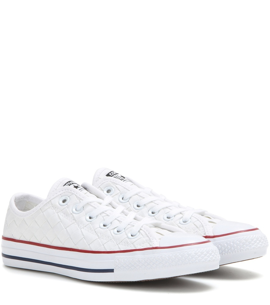 Chuck Taylor All Star Ox Sneakers - predominant colour: white; occasions: casual, creative work; material: fabric; heel height: flat; toe: round toe; style: trainers; finish: plain; pattern: plain; season: s/s 2016; wardrobe: basic
