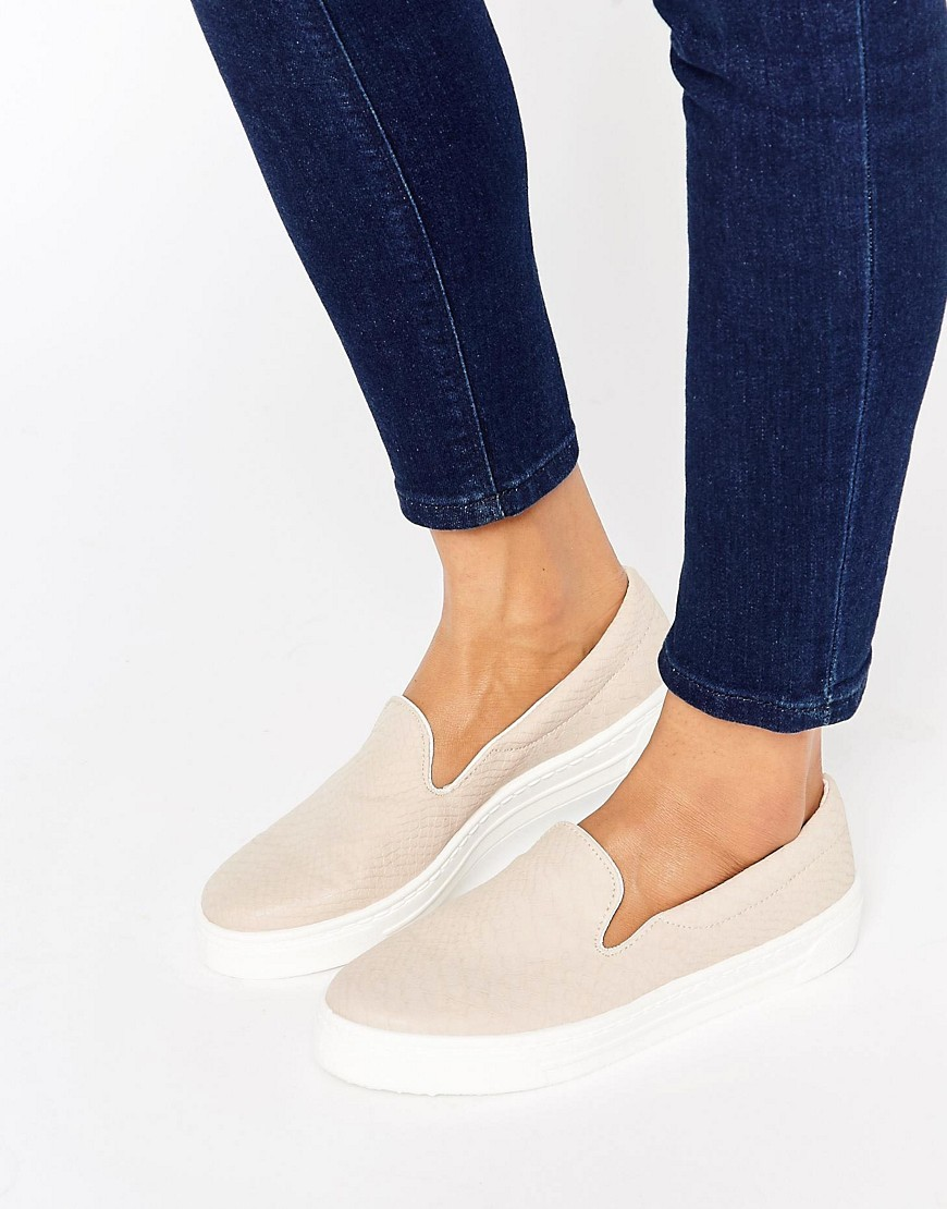 Doodle Slip On Trainers Nude - predominant colour: nude; occasions: casual; material: fabric; heel height: flat; toe: round toe; finish: plain; pattern: plain; style: skate shoes; season: s/s 2016; wardrobe: basic