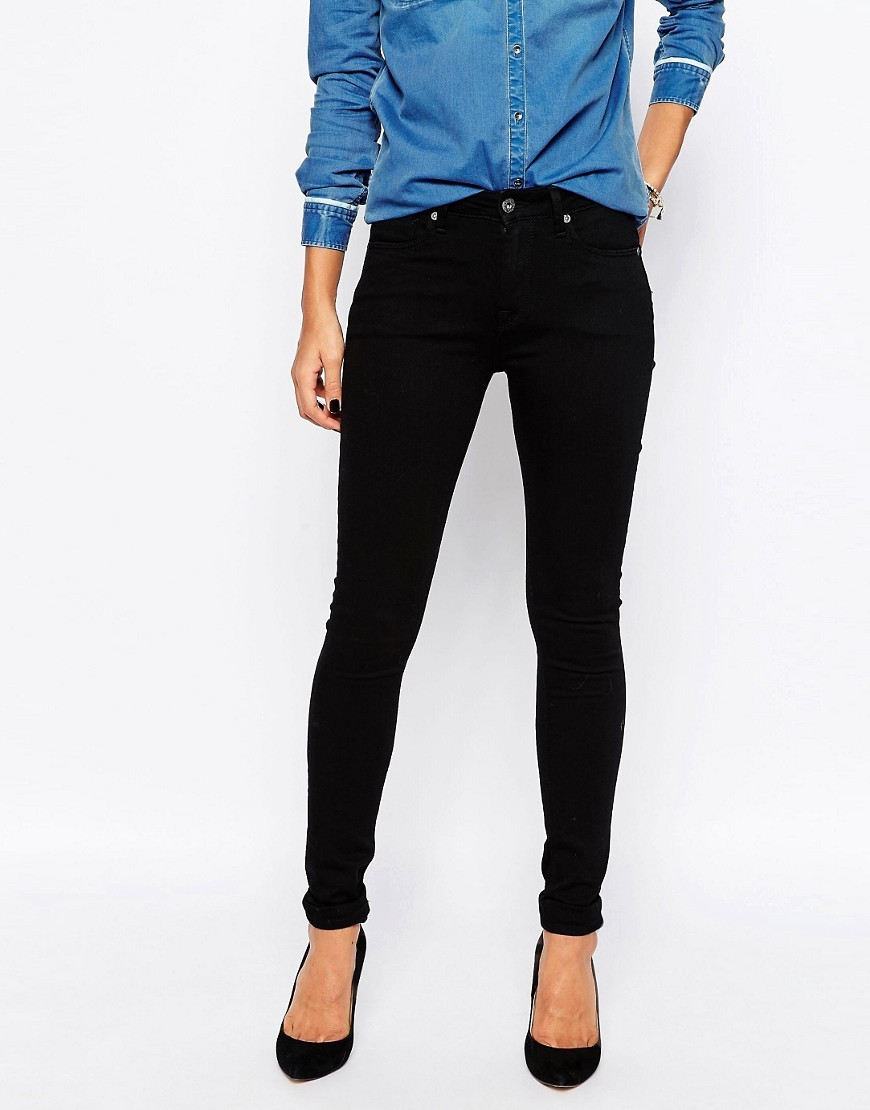 Regent High Waist Skinny Jeans 000denim - style: skinny leg; length: standard; pattern: plain; waist: high rise; pocket detail: traditional 5 pocket; predominant colour: black; occasions: casual; fibres: cotton - stretch; texture group: denim; pattern type: fabric; season: s/s 2016; wardrobe: basic