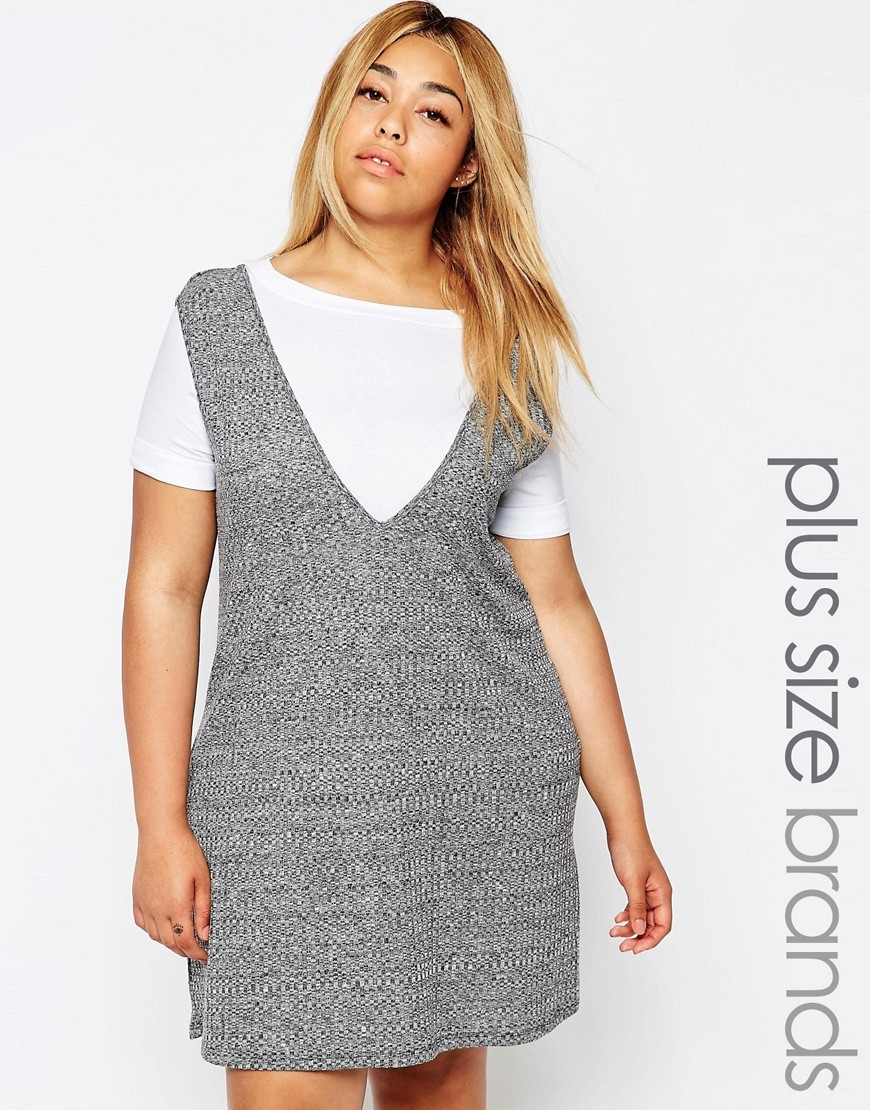 2 In 1 Shift Dress Grey - style: shift; length: mid thigh; neckline: round neck; secondary colour: white; predominant colour: mid grey; occasions: casual, creative work; fit: body skimming; fibres: polyester/polyamide - stretch; sleeve length: short sleeve; sleeve style: standard; pattern type: fabric; pattern: colourblock; texture group: jersey - stretchy/drapey; multicoloured: multicoloured; season: s/s 2016; wardrobe: highlight