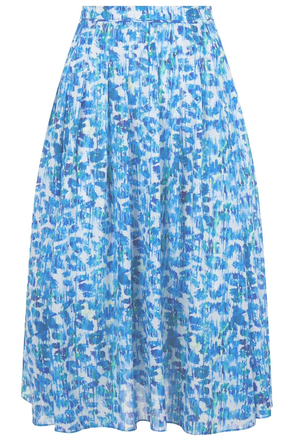 Benson Skirt, Multi Coloured - length: below the knee; style: full/prom skirt; fit: loose/voluminous; waist: mid/regular rise; predominant colour: ivory/cream; secondary colour: diva blue; occasions: casual; fibres: polyester/polyamide - 100%; pattern type: fabric; pattern: florals; texture group: other - light to midweight; multicoloured: multicoloured; season: s/s 2016; wardrobe: highlight
