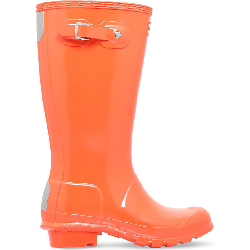 Gloss Rubber Wellies 6 10 Years, Women's, Eur 37 / 4 Uk Adult, Red - predominant colour: bright orange; occasions: casual; material: plastic/rubber; heel height: flat; heel: standard; toe: round toe; boot length: knee; style: wellies; finish: plain; pattern: plain; shoe detail: tread; season: s/s 2016