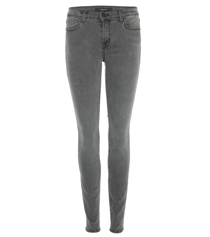 Mid Rise Super Skinny Jeans - style: skinny leg; length: standard; pattern: plain; pocket detail: traditional 5 pocket; waist: mid/regular rise; predominant colour: mid grey; occasions: casual; fibres: cotton - stretch; texture group: denim; pattern type: fabric; season: s/s 2016; wardrobe: highlight