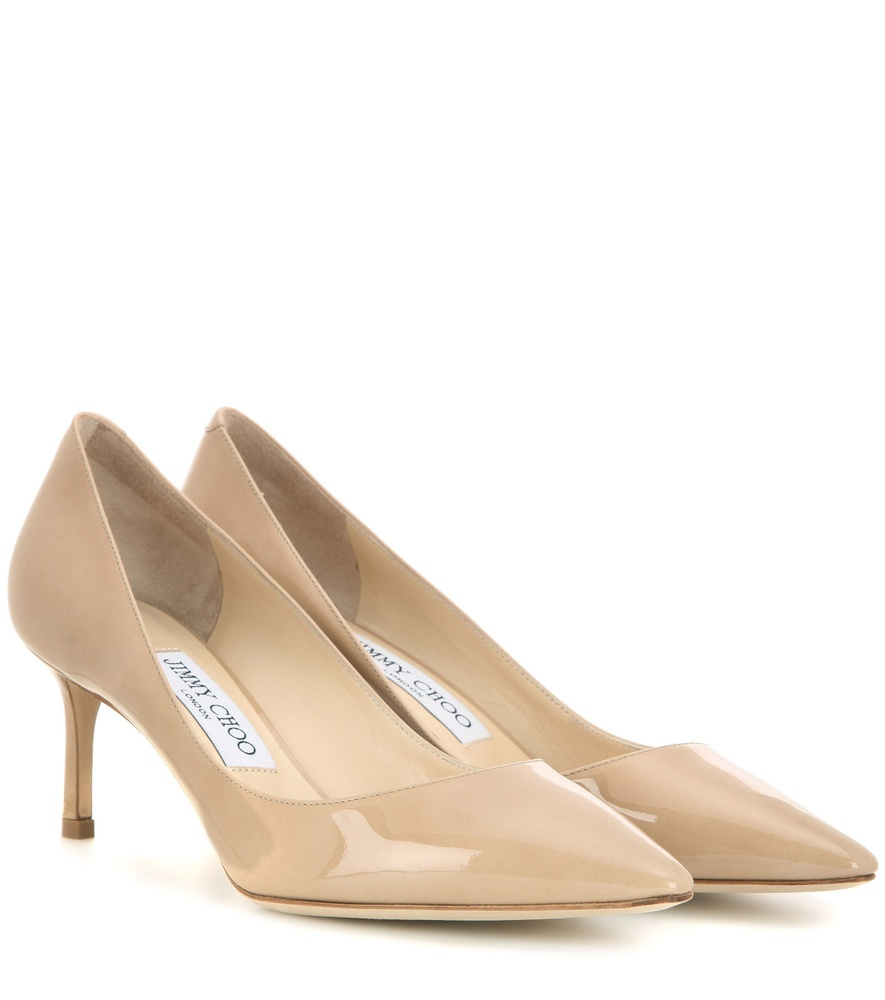 Romy 60 Patent Leather Pumps - predominant colour: nude; occasions: evening, work, occasion; material: leather; heel height: high; heel: stiletto; toe: pointed toe; style: courts; finish: patent; pattern: plain; season: s/s 2016; wardrobe: investment