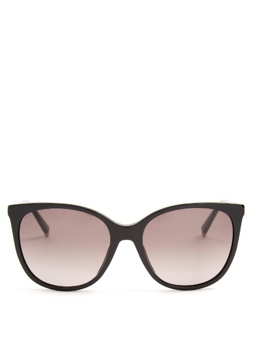 Design D Frame Acetate Sunglasses - predominant colour: black; occasions: casual, holiday; style: d frame; size: large; material: plastic/rubber; pattern: plain; finish: plain; season: s/s 2016; wardrobe: basic