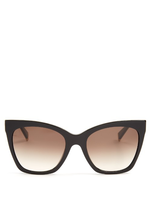 Modern Cat Eye Sunglasses - predominant colour: black; occasions: casual, holiday; style: cateye; size: large; material: plastic/rubber; pattern: plain; finish: plain; season: s/s 2016; wardrobe: basic