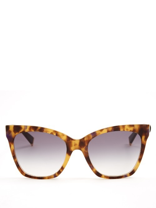 Modern Cat Eye Sunglasses - predominant colour: tan; occasions: casual, holiday; style: cateye; size: large; material: plastic/rubber; pattern: tortoiseshell; finish: plain; season: s/s 2016