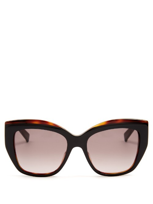 Prism Acetate Sunglasses - predominant colour: tan; secondary colour: black; occasions: casual, holiday; style: cateye; size: large; material: plastic/rubber; pattern: tortoiseshell; finish: plain; season: s/s 2016; wardrobe: highlight