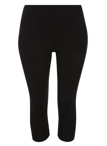 Black Improved Fit Cropped Leggings - pattern: plain; style: leggings; waist detail: elasticated waist; waist: mid/regular rise; predominant colour: black; occasions: casual; length: calf length; fibres: viscose/rayon - stretch; texture group: jersey - clingy; fit: skinny/tight leg; pattern type: fabric; season: s/s 2016; wardrobe: basic