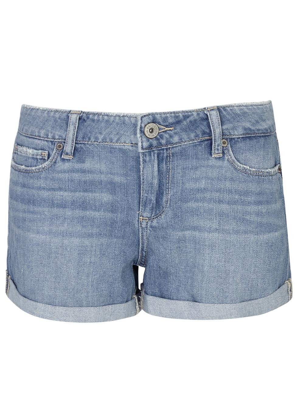 Jimmy Jimmy Blue Denim Shorts - pattern: plain; waist: mid/regular rise; predominant colour: denim; occasions: casual, holiday; fibres: cotton - stretch; texture group: denim; pattern type: fabric; season: s/s 2016; style: denim; length: short shorts; fit: slim leg; wardrobe: holiday