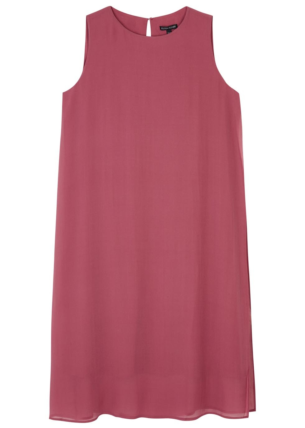 Rose Layered Silk Jersey Dress - style: shift; pattern: plain; sleeve style: sleeveless; occasions: evening; length: just above the knee; fit: body skimming; fibres: silk - 100%; neckline: crew; sleeve length: sleeveless; pattern type: fabric; texture group: jersey - stretchy/drapey; predominant colour: dusky pink; season: s/s 2016; wardrobe: event