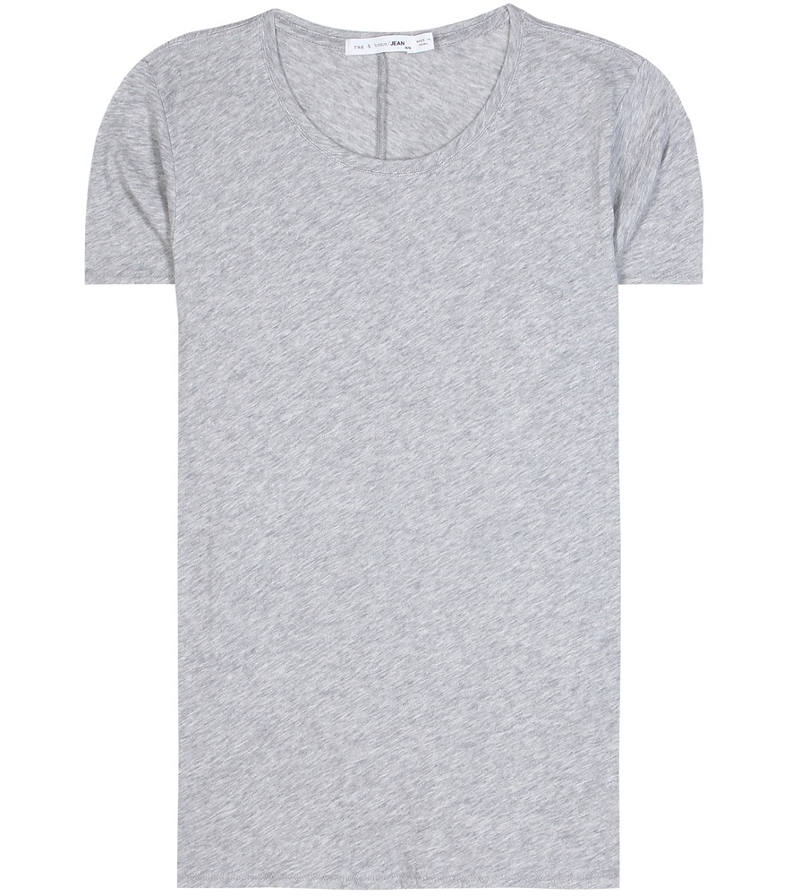 Base Cotton T Shirt - neckline: round neck; pattern: plain; style: t-shirt; predominant colour: light grey; occasions: casual; length: standard; fibres: cotton - 100%; fit: body skimming; sleeve length: short sleeve; sleeve style: standard; pattern type: fabric; texture group: jersey - stretchy/drapey; season: s/s 2016; wardrobe: basic