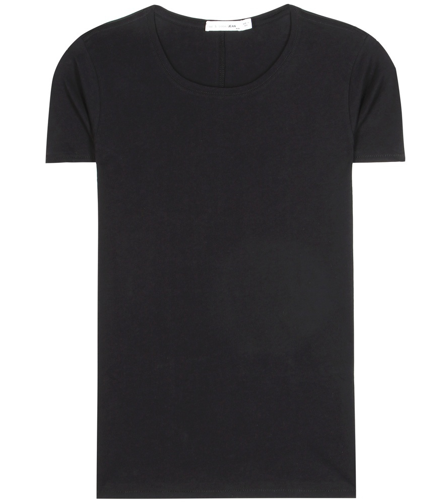 Base Cotton T Shirt - pattern: plain; style: t-shirt; predominant colour: black; occasions: casual; length: standard; fibres: cotton - 100%; fit: body skimming; neckline: crew; sleeve length: short sleeve; sleeve style: standard; pattern type: fabric; texture group: jersey - stretchy/drapey; season: s/s 2016; wardrobe: basic