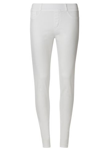 Womens **Tall White 'eden' Capri Jeggings White - style: skinny leg; length: standard; pattern: plain; waist: mid/regular rise; predominant colour: white; occasions: casual; fibres: cotton - stretch; texture group: denim; pattern type: fabric; season: s/s 2016; wardrobe: highlight