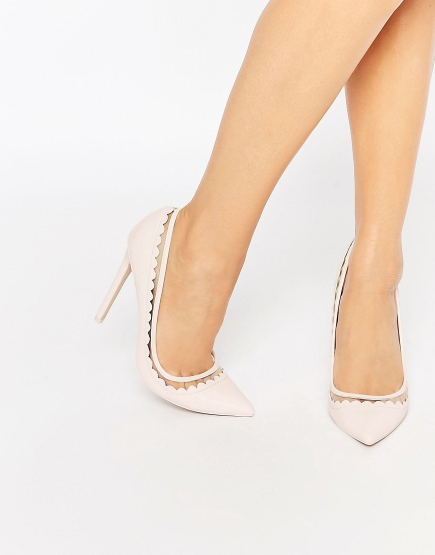Phrase Pointed High Heels Pink - predominant colour: blush; occasions: evening; material: faux leather; heel height: high; heel: stiletto; toe: pointed toe; style: courts; finish: plain; pattern: plain; season: s/s 2016; wardrobe: event