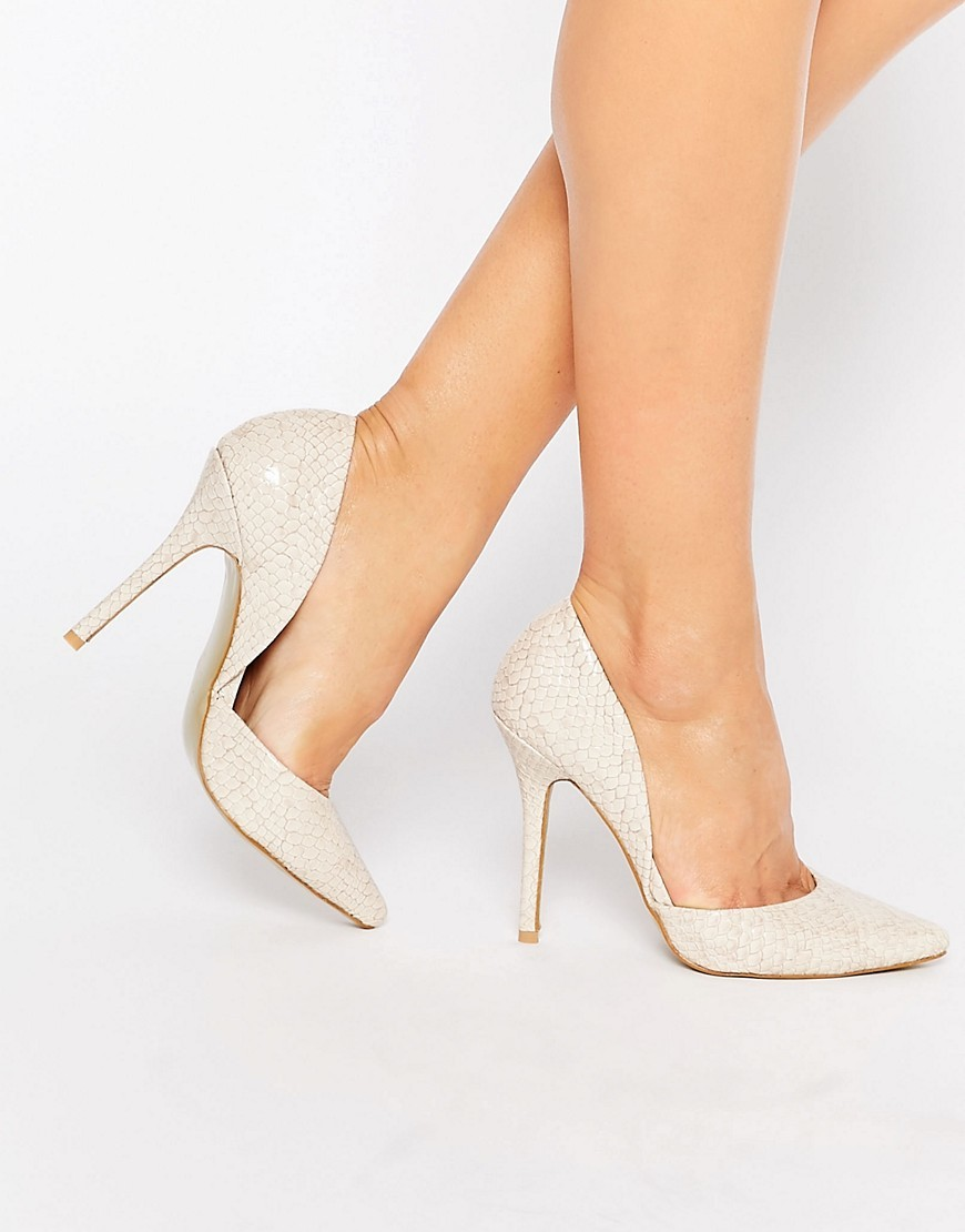 Cream Croc Print Court Heeled Shoes Cream Croc - predominant colour: ivory/cream; occasions: evening, occasion; material: faux leather; heel height: high; heel: stiletto; toe: pointed toe; style: courts; finish: plain; pattern: plain; season: s/s 2016; wardrobe: event
