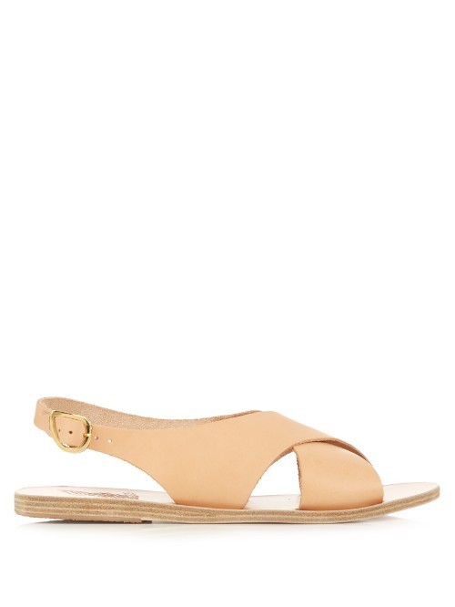 Maria Leather Sandals - predominant colour: nude; occasions: casual; material: leather; heel height: flat; heel: standard; toe: open toe/peeptoe; style: standard; finish: plain; pattern: plain; season: s/s 2016; wardrobe: basic