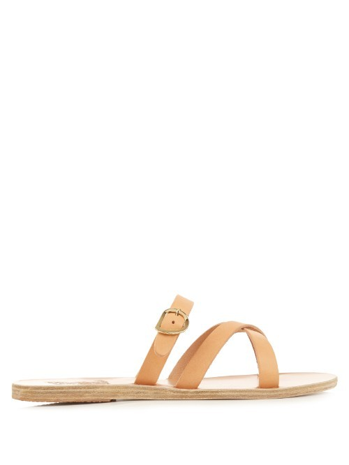 Axia Leather Sandals - predominant colour: camel; occasions: casual, holiday; material: leather; heel height: flat; heel: block; toe: open toe/peeptoe; style: strappy; finish: plain; pattern: plain; season: s/s 2016; wardrobe: basic