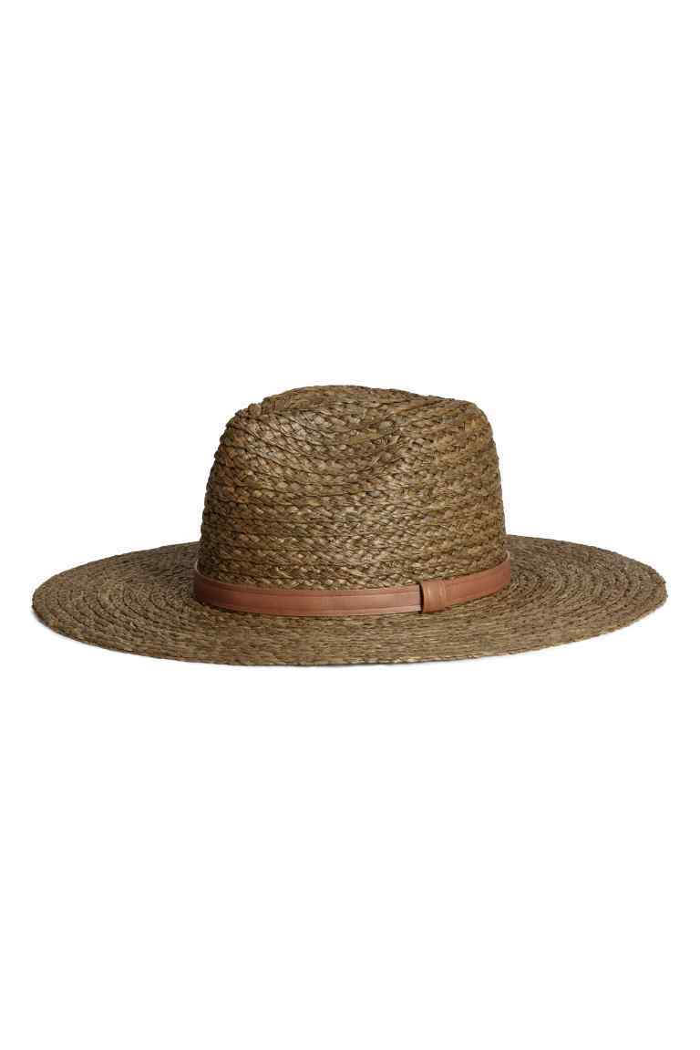 Straw Hat - predominant colour: camel; occasions: casual, holiday; type of pattern: standard; style: sunhat; size: standard; material: macrame/raffia/straw; pattern: plain; season: s/s 2016