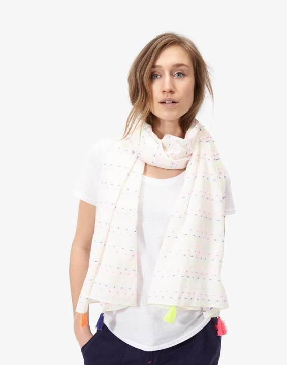 Carnival Long Line Scarf Bright White - predominant colour: white; occasions: casual, creative work; type of pattern: standard; style: regular; size: standard; material: fabric; pattern: plain; season: s/s 2016; wardrobe: basic