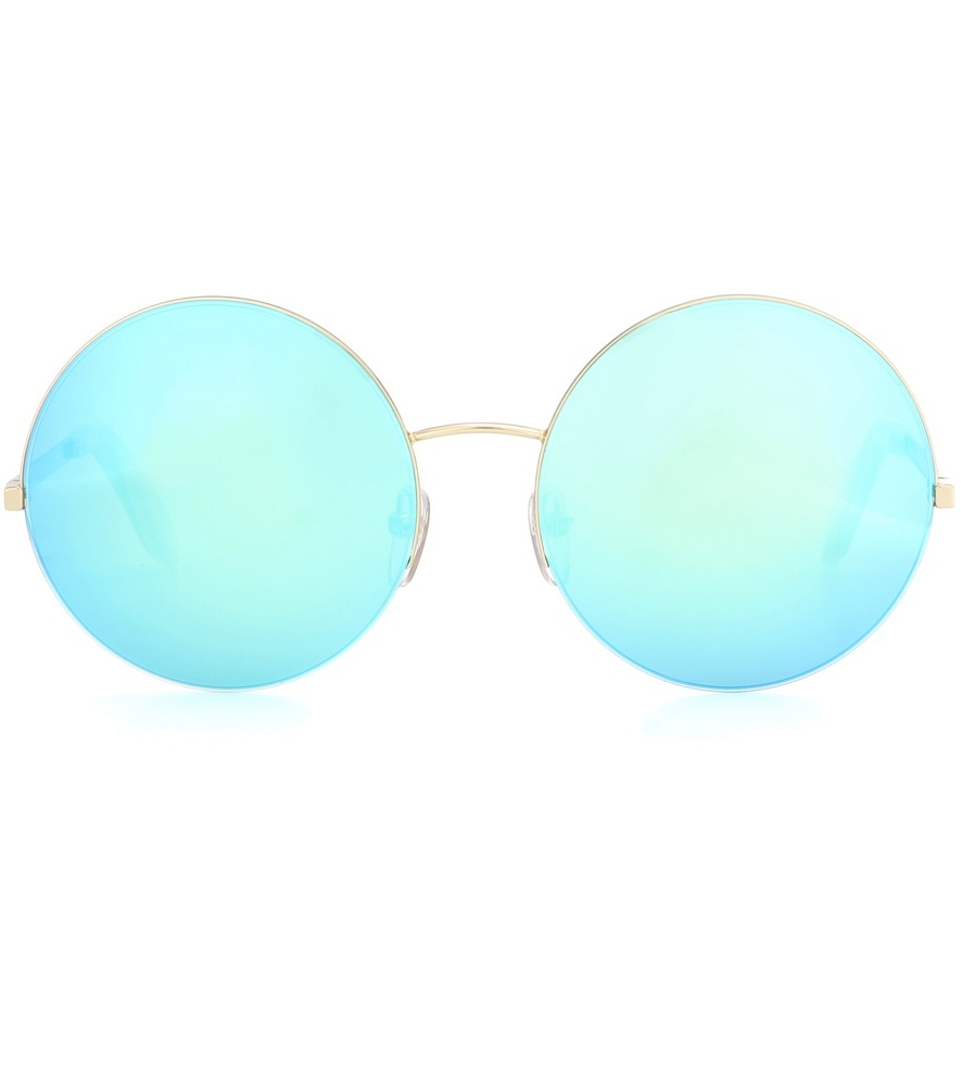 Supra Mirrored Round Sunglasses - predominant colour: gold; occasions: casual, holiday; style: round; size: standard; material: chain/metal; pattern: plain; finish: metallic; season: s/s 2016; wardrobe: basic
