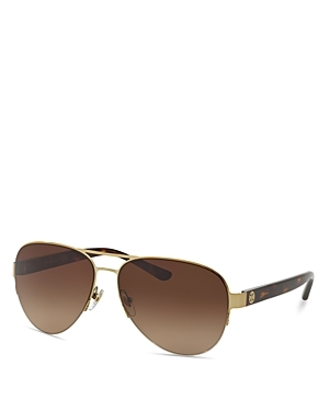 Rimless Aviator Sunglasses, 59mm - predominant colour: chocolate brown; secondary colour: gold; style: aviator; size: standard; material: chain/metal; pattern: plain; occasions: holiday; finish: metallic; season: s/s 2016; wardrobe: basic
