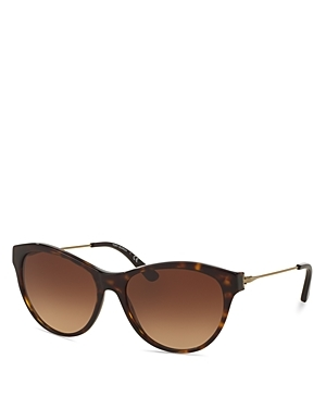 Round Sunglasses, 56mm - predominant colour: chocolate brown; secondary colour: tan; style: cateye; size: standard; material: plastic/rubber; pattern: tortoiseshell; occasions: holiday; finish: plain; season: s/s 2016