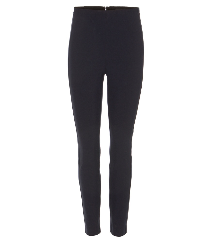 Simone Stretch Trousers - length: standard; pattern: plain; style: leggings; waist: high rise; predominant colour: black; occasions: casual; fibres: cotton - mix; fit: skinny/tight leg; pattern type: fabric; texture group: woven light midweight; season: s/s 2016; wardrobe: basic