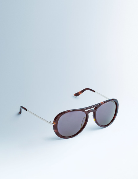 Audrina Sunglasses Tortoiseshell Women Boden, Tortoiseshell - predominant colour: chocolate brown; occasions: casual, holiday; style: aviator; size: standard; material: plastic/rubber; pattern: tortoiseshell; finish: plain; season: s/s 2016; wardrobe: basic