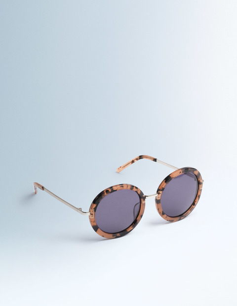 Selma Sunglasses Rose Tortoiseshell Women Boden, Rose Tortoiseshell - predominant colour: camel; occasions: casual, holiday; style: round; size: standard; material: plastic/rubber; pattern: tortoiseshell; finish: fluorescent; season: s/s 2016