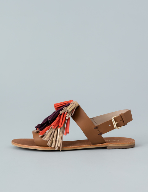 Gillian Tassel Sandal Tan Women, Tan - predominant colour: tan; occasions: casual, holiday; material: leather; heel height: flat; embellishment: tassels; heel: block; toe: open toe/peeptoe; style: strappy; finish: plain; pattern: plain; season: s/s 2016