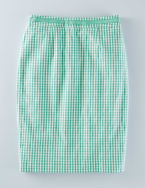 Modern Pencil Gingham Women, Gingham - pattern: checked/gingham; style: pencil; fit: tailored/fitted; waist: mid/regular rise; secondary colour: white; predominant colour: mint green; occasions: casual; length: just above the knee; fibres: cotton - stretch; pattern type: fabric; texture group: jersey - stretchy/drapey; multicoloured: multicoloured; season: s/s 2016; wardrobe: highlight