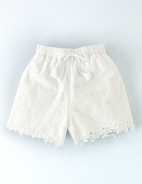 Emily Embroidered Short Ivory All Over Women, Ivory All Over - pattern: plain; waist: mid/regular rise; predominant colour: white; occasions: casual; fibres: cotton - 100%; texture group: cotton feel fabrics; pattern type: fabric; embellishment: embroidered; season: s/s 2016; style: shorts; length: short shorts; fit: slim leg; wardrobe: highlight; embellishment location: all over