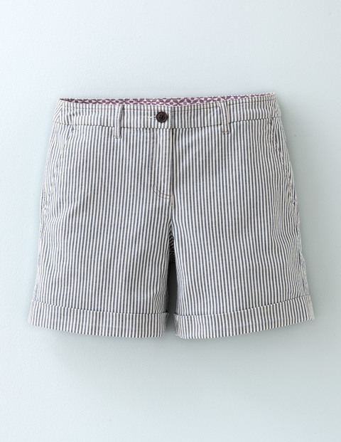 Richmond Shorts Stripe Women, Stripe - pattern: striped; waist: mid/regular rise; secondary colour: white; predominant colour: light grey; occasions: casual, holiday; fibres: cotton - stretch; texture group: cotton feel fabrics; pattern type: fabric; pattern size: light/subtle (bottom); season: s/s 2016; style: shorts; length: mid thigh shorts; fit: slim leg; wardrobe: holiday