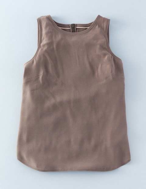Shell Top Fawn Women, Fawn - pattern: plain; sleeve style: sleeveless; style: vest top; predominant colour: taupe; occasions: casual; length: standard; fibres: viscose/rayon - 100%; fit: body skimming; neckline: crew; sleeve length: sleeveless; pattern type: fabric; texture group: jersey - stretchy/drapey; season: s/s 2016; wardrobe: basic