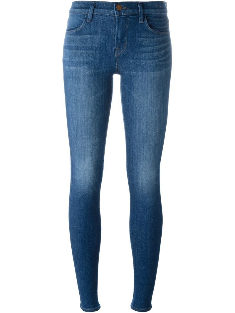 Super Skinny Jeans, Women's, Blue - style: skinny leg; length: standard; pattern: plain; pocket detail: traditional 5 pocket; waist: mid/regular rise; predominant colour: royal blue; occasions: casual; fibres: cotton - stretch; jeans detail: whiskering, washed/faded; texture group: denim; pattern type: fabric; season: s/s 2016