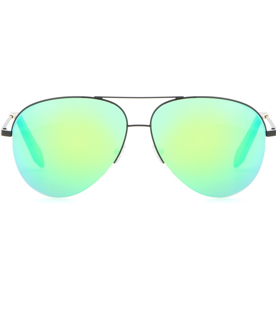 Classic Victoria Sunglasses - predominant colour: silver; occasions: casual, holiday; style: aviator; size: standard; material: chain/metal; pattern: plain; finish: plain; season: s/s 2016; wardrobe: basic